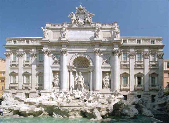 Trevi fountain-building